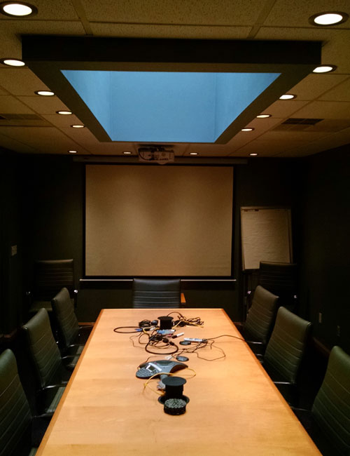 completely wired business meeting room